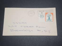 ETATS-UNIS - Enveloppe De New York En 1964 , Affranchissement Vignette - L 11880 - Poststempel