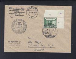 Dt. Reich NABA Berlin Eckrand Auf Brief 1940 Sonderstempel - Deutschland