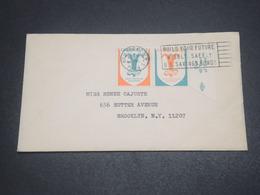 ETATS-UNIS - Enveloppe De New York En 1964 , Affranchissement Vignettes - L 11881 - Poststempel