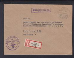 Dt. Reich R-Brief 1940 Reichsbahn Zentralamt Berlin - Dienstpost