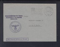 Dt. Reich Brief Staatsministerium Des Innern 1941 Fürth Nach Lohr - Dienstpost