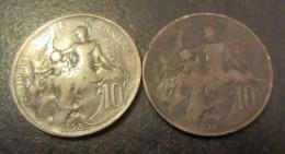 France - 2 Monnaies 10 Centimes Dupuis 1898 - TTB - D. 10 Centesimi