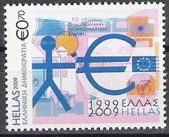 "2009 Griechenland  Mi. 2508**MNH  "" 10 Anos Do Euro "" - Europese Gedachte"