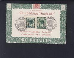 Dt. Reich Sonder-PK Die Sächsische Briefmarke 1938 - Briefe U. Dokumente