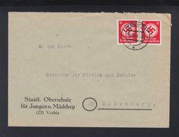 Dt. Reich Brief 1944 Oberschule Vechta - Servizio