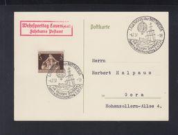 Dt. Reich PK Wehrsporttag Lauenhain Fahrbares Postamt 1937 - Germania