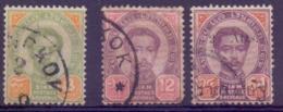 Siam N° 11, 13, 14 Oblitérés - Siam