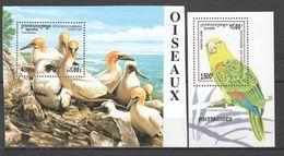 S453 1995, 2000 DE GUINEE CAMBODGE FAUNA OISEAUX PARROTS 2BL MNH - Perroquets & Tropicaux