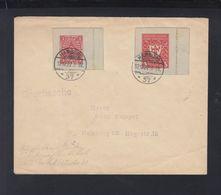 Dt. Reich Brief 1922 MeF Ganzsachenausschnitte BPP Geprüft - Deutschland