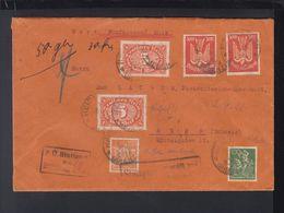 Dt. Reich Wertbrief 1922 Heidenheim Nach Bern - Deutschland
