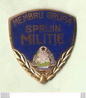 ROMANIA ROUMANIE RUMANIEN - MILITIE - MEMBRU GRUPA SPIRIJIN MILITIE  - BADGE - EMAIL - POLIZIA RARA ! - Polizia