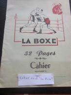 CAHIER D'ÉCOLE ÉCOLIER NEUF 32 PAGES -- VIERGE SUR LE THÈME DE LA BOXE VERSO TABLE DE MULTIPLICATION - Other Collections