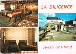 ARDENNES 08.WARCQ LA DILIGENCE HOTEL BAR RESTAURANT CARTE 15 X 10,5 - France