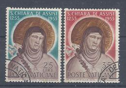 VATICAN - 1953 - N° 187/188 - Oblitérés - TB - Cote 16.50 € - Vaticaanstad