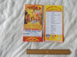 Dépliant Publicitaire Du Cirque Pinder Tournée Juillet 2005 Vendu à L'unité - Pubblicitari
