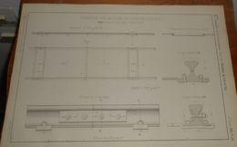 Plan De Chemin De Fer Mobile Du Camp De Chalons. 1858 - Public Works