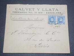 ESPAGNE - Enveloppe Commerciale De Barcelone Pour La France En 1902 - L 11915 - Cartas