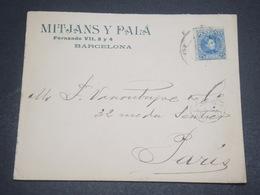 ESPAGNE - Enveloppe Commerciale De Barcelone Pour La France En 1902 - L 11916 - Cartas