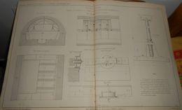 Plan De Cintres Mobiles Employés à La Construction De L'égout Galerie Du Boulevard De Sébastopol. 1858 - Public Works