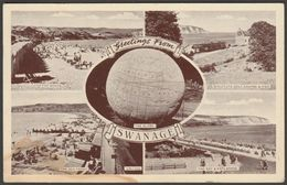 Multiview, Greetings From Swanage, Dorset, 1955 - Thunder & Clayden Postcard - Swanage