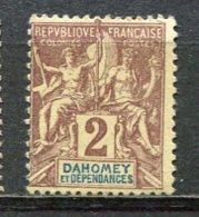 DAHOMEY -  Yv.  N° 7  (*)  2c  Cote  2,75 Euro BE  2 Scans - Dahomey (1899-1944)