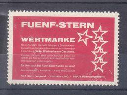 FUENF-STERN - WERTMARKE - 8990 LINDAU(BODENSEE) - Erinnophilie