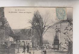 SAINT  JULIEN   DE LAMPON   PLACE DE L EGLISE - Autres Communes