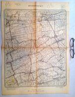 STAFKAART 14/7 Meting 1863 ZEVENEKEN ZAFFELARE WACHTEBEKE MOERBEKE EKSAARDE DOORSLAAR GANZENDRIES Lochristi Kaart S380 - Geographical Maps