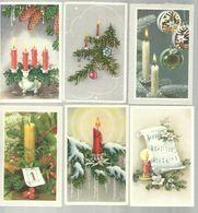 """-  **  12 X Wenskaartje ( Zweedse) """"""""  GOD JULL ,  GOTT NYTT AR    -Vrolijk Kerstfeest ,Gelukkig  Nieuwjaar  * - Noël"""