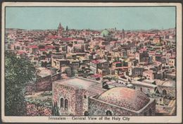 General View Of The Holy City, Jerusalem, 1945 - Field Post Office - MW Postcard - Palestine
