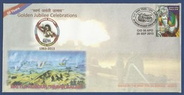 INDIA 2013 MNH SPECIAL COVER GOLDEN JUBILEE CELEBRATIONS BATTLE HONOUR HARAR KALAN ARMY POSTAL SERVICE - Inde