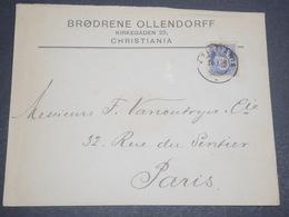 NORVÈGE - Enveloppe Commerciale De Kristiana Pour Paris En 1902 - L 11934 - Briefe U. Dokumente