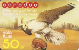 Qatar, Ooredoo Hala Phone Card, Falcon & Towers (50 Rls.) - Qatar