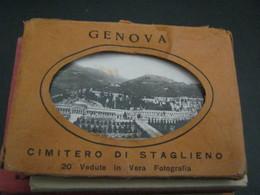 CUSTODIA CON IMMAGINI GENOVA CIMITERO DI STAGLIENO-EDIZIONI LICHINO - Genova (Genoa)