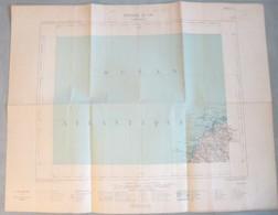 Carte Du Ministère De L'Intérieur : LANDUNVEZ (29) - 1/100 000ème - 1887 - Roadmaps