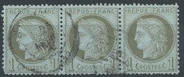 Lot N°39406  Bande De Trois N°50, Oblit Cachet à Date - 1871-1875 Cérès