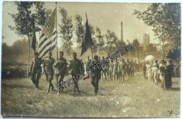 CPA Carte Photo Guerre 14-18 Militaire Américain Drapeau Flag American US Military WW1 FRANCE - Guerre 1914-18