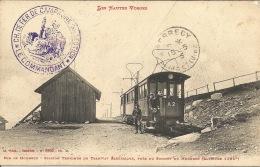 88  Hohneck  Station Terminus Du Tramway Electrique   Tampon Militaire  10 ème Section - Gares - Avec Trains