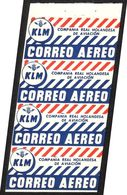 VIGNETTES «KLM/ COMPANIA REAL HOLANDESA/ DE AVIACION/ CORREO AEREO» - Avions