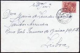 Cover + Letter - Salvaterra De Magos To Lisboa, Portugal // Cancel - Salvaterra De Magos1958 - 1910-... República