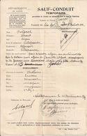 69 VILLEFRANCHE-sur-SAÔNE - SAUF-CONDUIT TEMPORAIRE - Guerre 1914-18 - 16 Novembre 1917 - WW1 - Automobile - A Voir ! - 1914-18