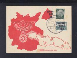 Dt. Reich Sudetenland PK Sonderstempel - Besetzungen 1938-45