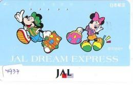 Télécarte Japon * DISNEY * JAL * AIRLINES * 110-163279  (4937)  Japan Phonecard * - Disney