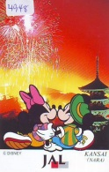 Télécarte Japon * DISNEY * JAL * AIRLINES * 110-167955  (4948)  Japan Phonecard * - Disney