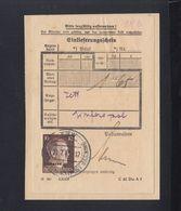 Dt. Reich Besetzung Ukraine Einlieferungsschein Kiew 1943 - Besetzungen 1938-45