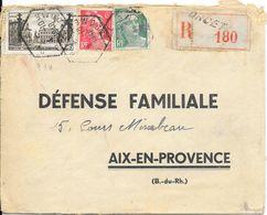 LOT 1801007-N° 778 SUR LETTRE RECOMMANDEE DE ORCET DU 1-10-1948 - CACHET OCTOGONAL - Marcophilie (Lettres)
