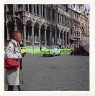 ANCIENNE PHOTO AUTOMOBILE VOITURE AUTO VINTAGE  PHOTO CAR  8,5 Cm X 8,5 Cm  BRUXELLES - Automobile