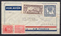 Paraguay - N° 269 , 351 Et PA N° 86 Et 90 Obli/sur Lettre - Correo Aereo -  1936 - Paraguay