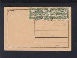 Dt. Reich PK 1923 Hödingen Nach Erfurt Frankiert Mit Einkommensteuermarken Infla Und BPP Geprüft - Deutschland
