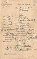 69 VILLEFRANCHE-sur-SAÔNE - SAUF-CONDUIT FRANCAIS - à Mr COTAREL - Guerre 1914-18 - 23 Juin 1916 - Visas - WW1 - A Voir! - 1914-18